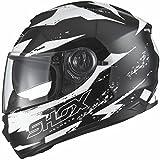 Shox Assault Trigger Motorrad Roller Helm L Schwarz/Weiß