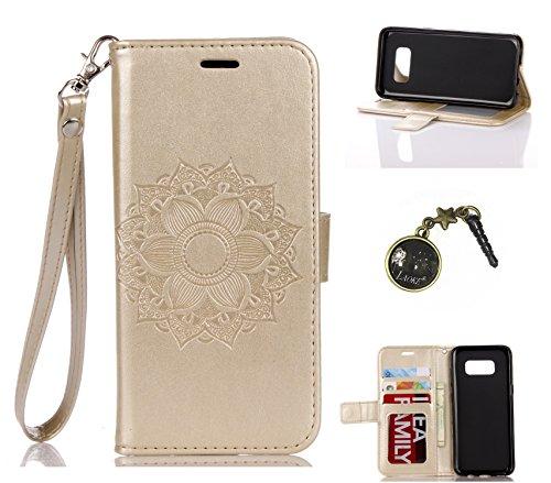 Preisvergleich Produktbild Galaxy S8 Hülle,PU Leder Hülle für Samsung Galaxy S8 Tasche Schutzhülle Handyhülle + Stöpsel Staubschutz (8)