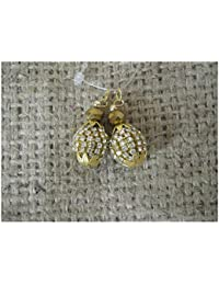 Set Of 2 Blouse Latkan Kurti, Small Sie Gold Ball, Stone Work, 1.5cm Long