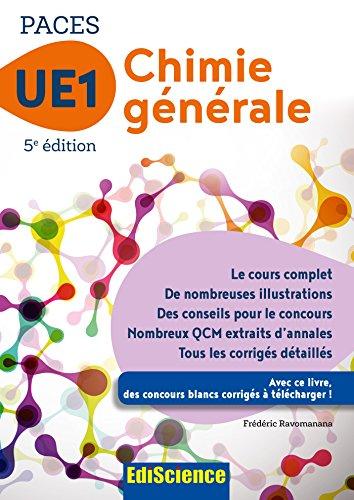 PACES UE1 Chimie générale - 5e éd. par Frédéric Ravomanana