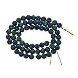 100% Perlas Sueltas Redondas De Piedras Preciosas De Lapislázuli Naturales para Hacer Joyas Hallazgos/Accesorios 1 Filamento 15.5 Pulgadas - 6 Mm