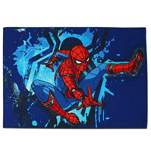 TW24 Disney Spielteppich - Kinderteppich - Teppich - Läufer 133x95cm mit Motivauswahl (Spider-Man)