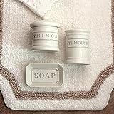 Blanc Mariclo Set da Bagno Shabby Chic in Ceramica Colore Avorio