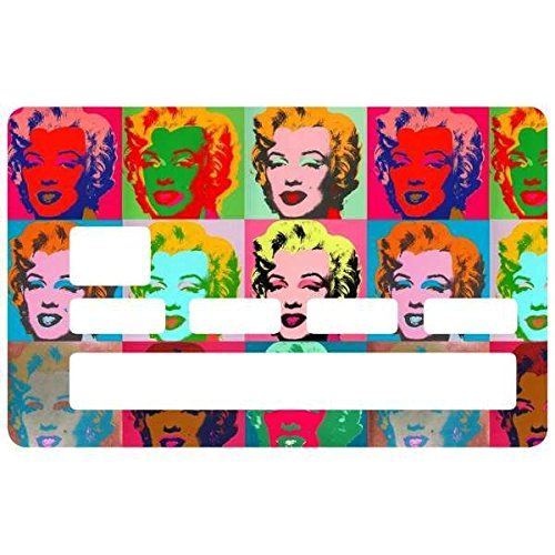 Sticker, autocollant decoratif, pour carte bancaire, Marilyn Monroe