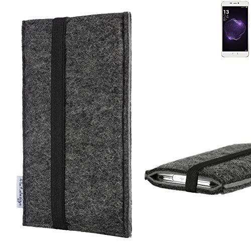 flat.design Handyhülle Lagoa für Allview X4 Soul Style | Farbe: anthrazit/grau | Smartphone-Tasche aus Filz | Handy Schutzhülle| Handytasche Made in Germany