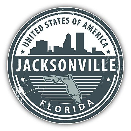 Jacksonville Florida Usa Grunge Rubber Stamp Travel Art Decor Vinyl Sticker Aufkleber 12 x 12 cm