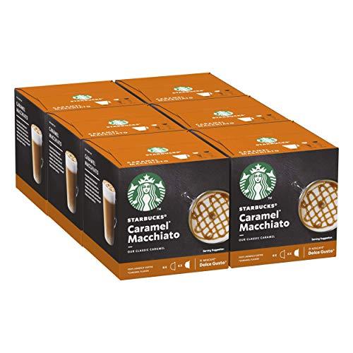 STARBUCKS Caramel Macchiato De Nescafe Dolce Gusto Cápsulas De Café, 6 X Caja De 6+6Unidades