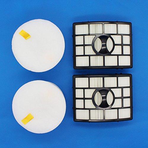raogoodcx Shark Rotator Filter NV650Sets, HEPA Filter und Schaumstoff Filter Fit Rotator Professional Lift NV650nv651nv652NV750nv751nv752nv753Teil # xff650& xhf650 (Hepa-filter Vakuum)