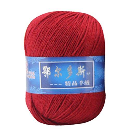 Wolle Ball, wuayi natürlich glatter Seide Weich Kaschmir Garn Wollüberzug aus Mongolisches aus Wolle DIY Weave Gewinde, L, 20*20*20cm