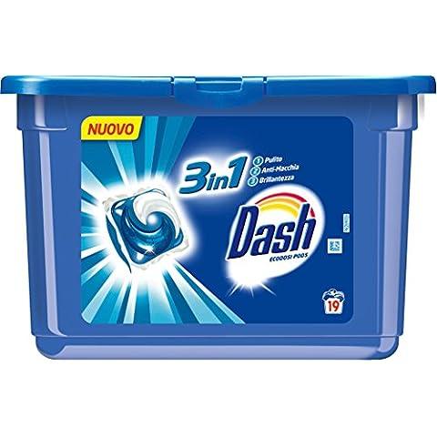 6 x DASH Lavatrice Ecodosi Pods 3in1 Regolare 19 Dosix29,9 Gr 19 PEZZI