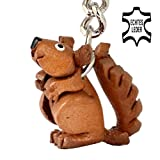 Red Squirrel Ernie - Key-ring Figurine made of leather in 3d Design by Monkimau - your best friend. Always with you! Category walnut squirrel family gruffalo cuddly soft toy yoohoo and friends - about 2cm, each 1 piece (brown small)