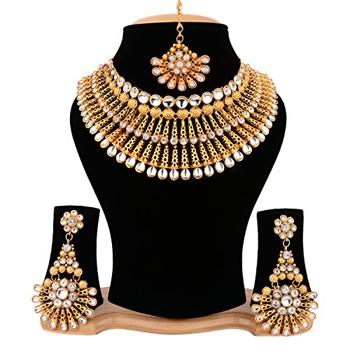 Cardinal Gold Color Stylish Traditional Fashion Jewellerry Party Wear Bridal Necklace Set...