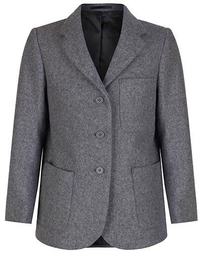 Girls Grey Wool School Blazer, 96cm = 38