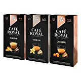 Café Royal Flavoured Editions Set - Je 10 Nespresso kompatible Kapseln in den Geschmacksrichtungen Vanille, Karamell und Mandel