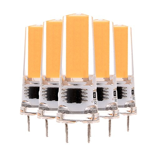 SDDMALL Dimmable 3W G8 2508 COB 200-300 Lm AC 220-240 V / AC 110-130 V Blanco cálido blanco fresco Decoración Luz (5PCS) ( Color : Cool White , Size : 110-130V )