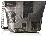 Tamaris Damen Lone Crossbody Bag Umhängetaschen, Silber (Pewter Comb 917), 25x24x12 cm