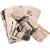 Segolike Pack of 30 Retro World Scenery Landscape Paper Bookmark School office Supplies