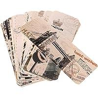 MagiDeal Lot 30 Pcs Marque Du Page Étiquette Marquer Feuille Imprimé Accessoire Papeterie Portable Pièce Roman Lecteur