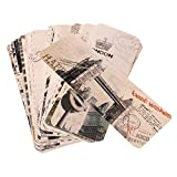 #8: Segolike Pack of 30 Retro World Scenery Landscape Paper Bookmark School office Supplies