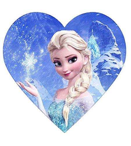 Frozen Elsa Disney Princess Kuchen Topper Puderzucker Herz Form IMGE B