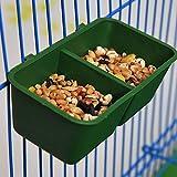 Vivianu Double gamelle mangeoire à oiseaux, cage à double eau pour boire de l'eau et boire un perroquet et un pigeon