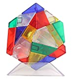 HJXDtech- ¡Nuevo cubo mágico irregular! Rompecabezas de 3x3 Ghost Cube Speed Smooth Twist (vistoso)