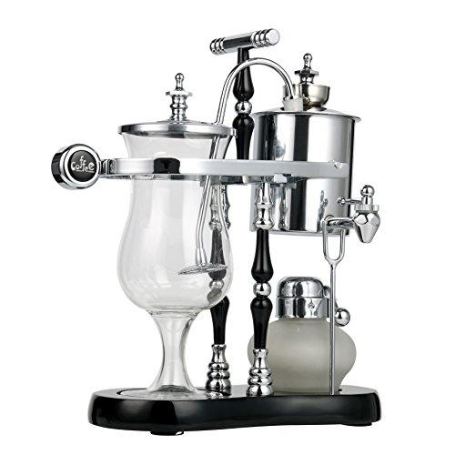 YaeKoo Belgian Belgium Luxury Royal Family Balance Syphon Coffee Maker Classic Double Column Top Grade, Classic and Elegant Design