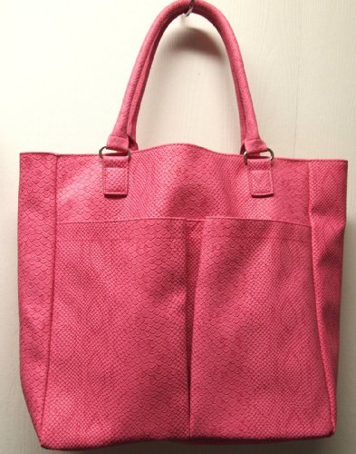neiman-marcus-faux-snake-python-crocodile-large-tote-pink-by-neiman-marcus