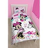 Character Minnie Mouse - Juego de ropa de cama individual, multicolor