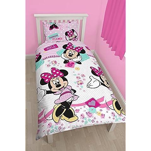 Character Minnie Mouse - Juego de ropa de cama individual, (Letto Disney)