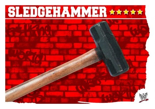 SLEDGEHAMMER Prop Card Slam Attax MAYHEM Trading Card (Sledgehammer Games)