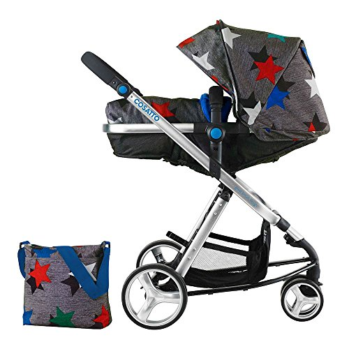 Cosatto Woop Pushchair, Suitable from Birth to 15 kg, Grey Megastars