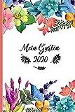 Mein Garten 2020: Notizbuch, Jahresplaner und Journal, Gartenplaner und Eintragbuch für Gartenfreunde, Hobbygärtner und Laubenpieper | Blumen abstrakt