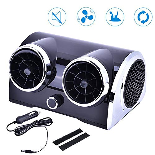 GMtes Tragbarer Klimaanlage für Autos Bladeless Motor Car Cooling Fan Low Noise Desktop Cooler für Fahrzeug LKW-Fichter Fan,12v