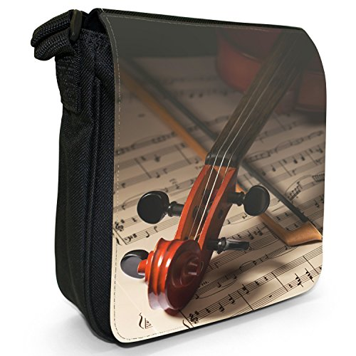 Fancy A Snuggle, Borsa a tracolla donna Nahaufnahme von Schnecke einer Geige