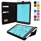 Snugg iPad Hülle - Smart Cover mit Aufsteller, elastischer Handschlaufe, Stylus-Halterung und Premium Nubuck Innenfutter schwarz schwarz iPad Mini & iPad Mini 2 Executive