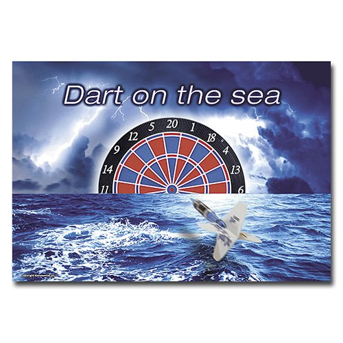 Dartposter Dart on The sea, DIN A1