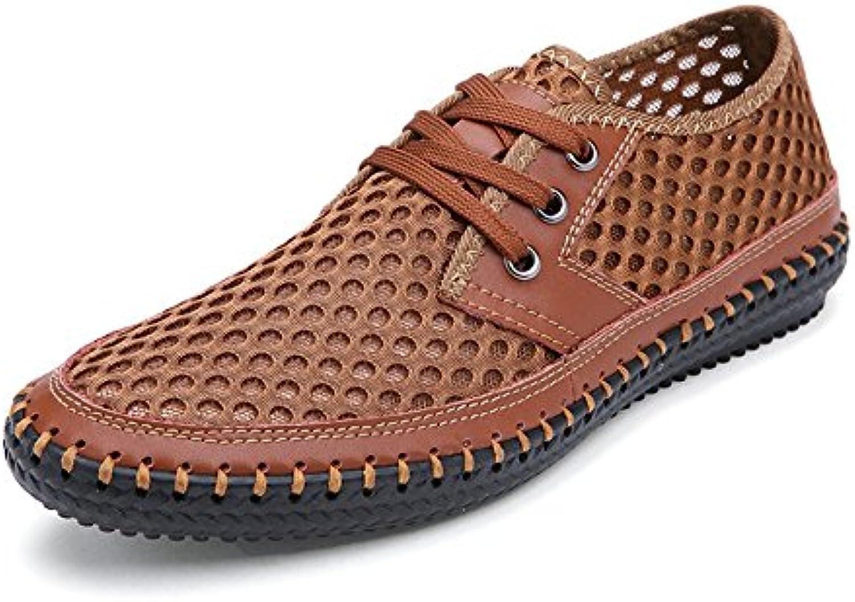 Huateng Zapatos Casuales de Verano Para Hombres, Malla Transpirable Zapatos Ligeros y de Moda