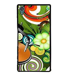 Fuson Designer Back Case Cover for Sony Xperia Z5 :: Sony Xperia Z5 Dual 23MP (lotus sunflower butterfly rangoli artwork)