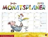 Helme Heine Monatsplaner - Kalender 2018 - Heye-Verlag - Wandplaner mit Schulferien und Poster - 44 cm x 34 cm