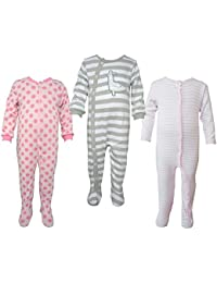 Teddy's Choice 100% Cotton Multi color 3 Combo Kid's Romper for 0-3 Months :Modle-014