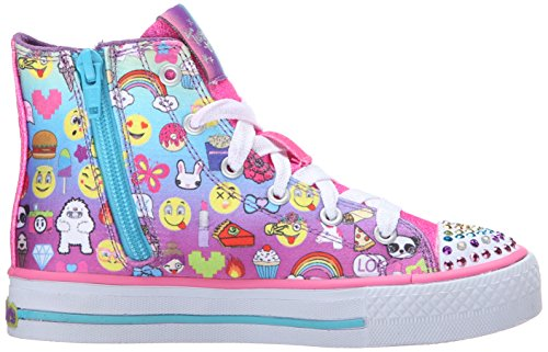 Skechers Shuffles Chat Time, Baskets Basses Fille Multicolore (Mlt Multicouleur)