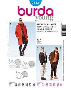 Burda B7142 Patron de Couture Manteau et Veste 19 x 13 cm