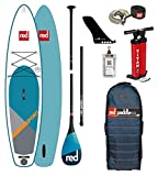 Red Paddle Co 2018 Sport 12'6 Inflatable Stand Up Paddle Board + Bag, Pump, Paddle & Leash Paddle Option - Carbon 3-Piece
