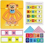 BSTOB Juego de matemáticas de equilibrio, juguetes de matemáticas de adición digital de conteo para niños y ni