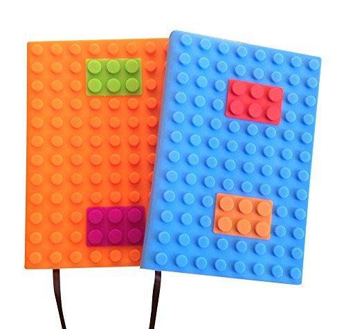 Taccuino formato A5, a righe, ricaricabile, foderato con custodia morbida - per uso ufficio, per appunti o diario per ragazzi - 100pagine, 20,32 x 15,24 cm, confezione da 2