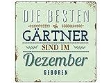 Interluxe 20x20 cm METALLSCHILD Türschild DIE Besten Gärtner Dezember Garten Hobby Beruf Geschenkidee