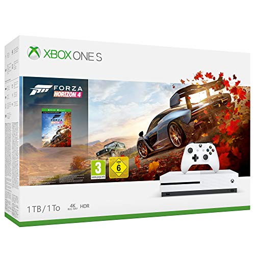 Xbox one s 1tb + forza horizon 4 + 14gg xbox live gold + 1 mese gamepass [bundle]