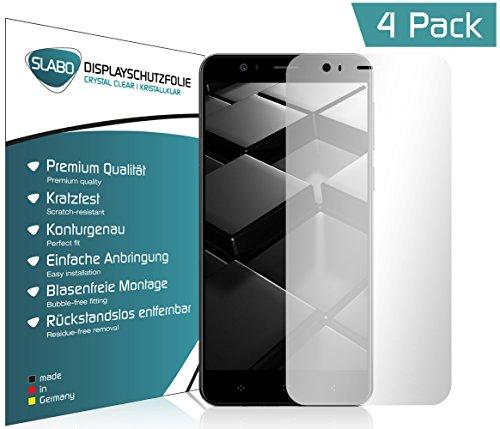 4 x Slabo Displayschutzfolie für Elephone P8 mini Displayfolie Schutzfolie Folie Zubehör (verkleinerte Folien, aufgrund der Wölbung des Displays)