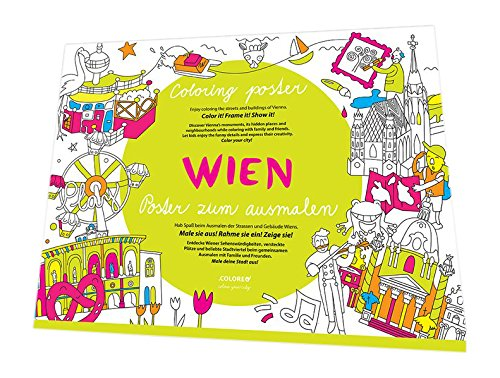 Preisvergleich Produktbild Wimmelstadtplan Wien: Poster zum Ausmalen